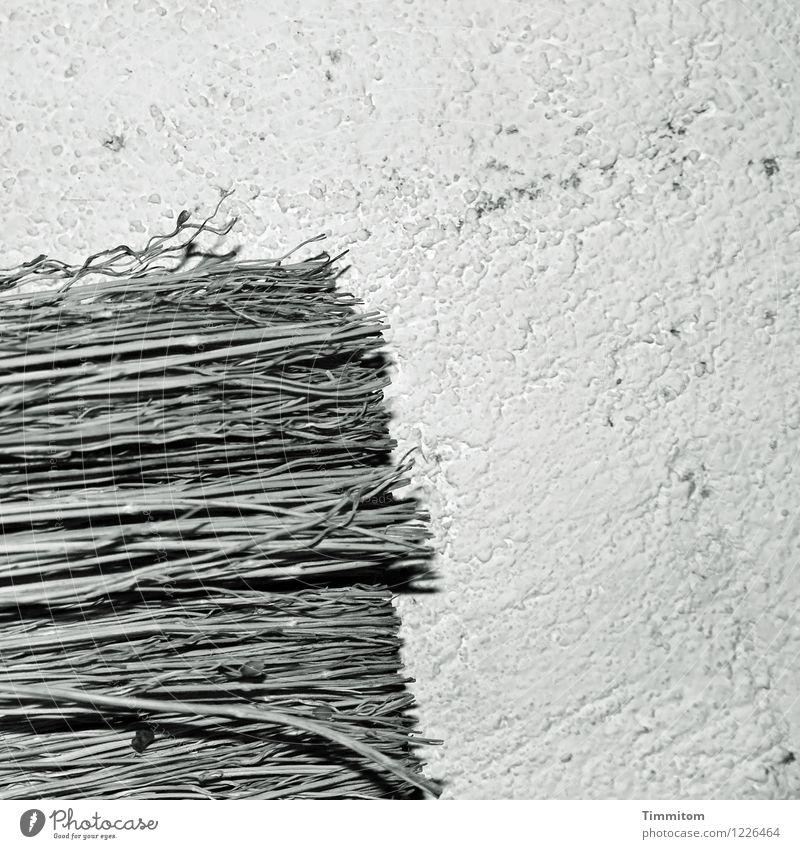 Black Wall (building) Wall (barrier) Gray Esthetic Creativity Simple Hang Plaster Broom