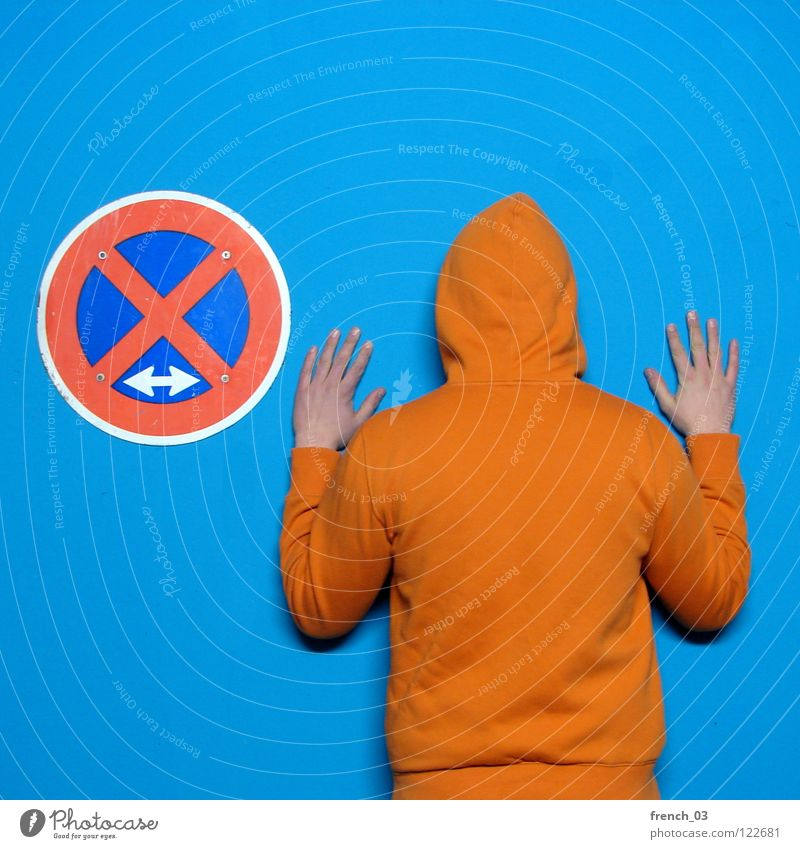 Human being Man Blue Hand White Beautiful Red Colour Wall (building) Wall (barrier) Orange Germany Arm Signs and labeling Masculine Transport