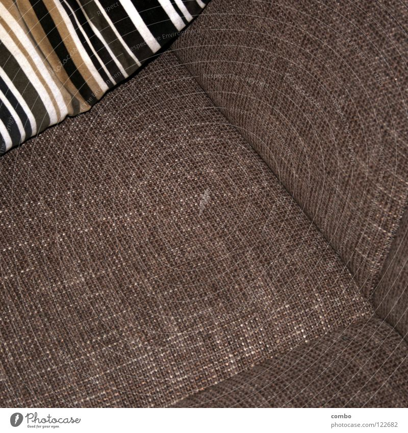 Sofa and cushions Retro Design Physics Cloth Gray Rectangle Relaxation Living room Room Moody Cozy Contentment Calm Safety (feeling of) Interior shot Woven