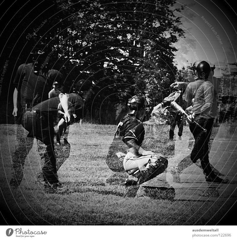 Human being Man Playing Movement USA Ball Analog Leipzig Americas Beat Scan Baseball Sporting grounds Saxony
