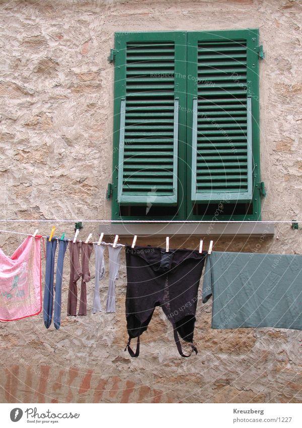 Window Clothing Italy Stockings Underwear Laundry Tuscany