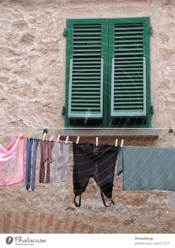 Window Clothing Italy Stockings Underwear Laundry Tuscany