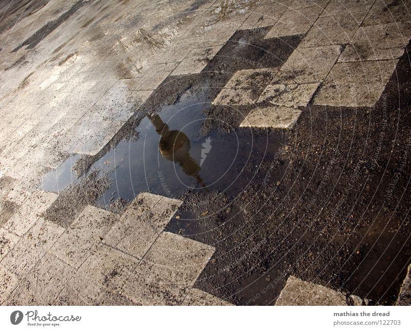 Water Dark Cold Sadness Architecture Building Berlin Stone Line Rain Gloomy Speed Places Wet Crazy Broken