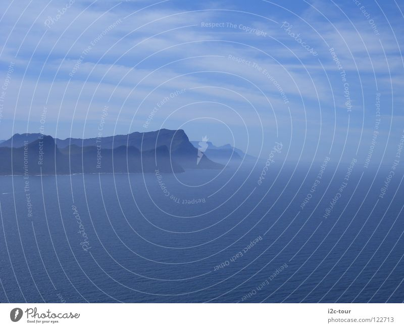 Water Sky Ocean Blue Clouds Mountain Fog Hope Peace Cape South Africa