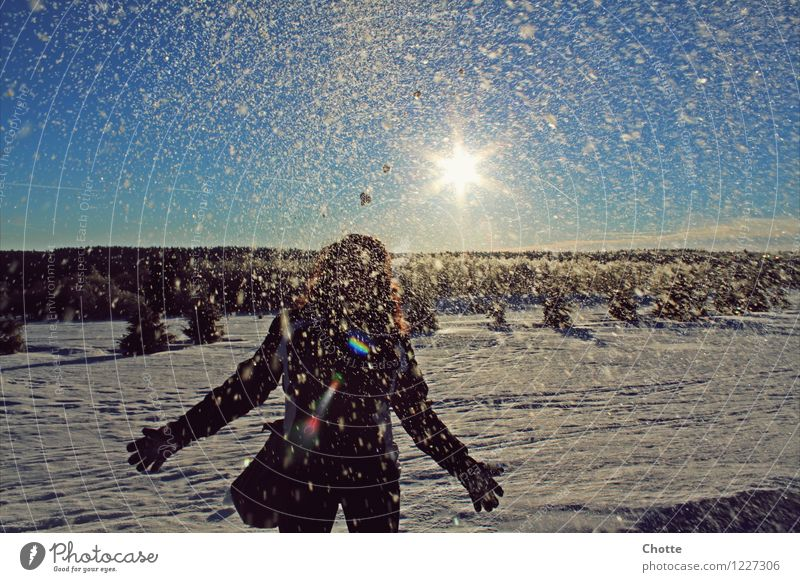 Nature Blue White Joy Winter Cold Mountain Love Natural Feminine Sports Happy Laughter Dream Snowfall Fresh