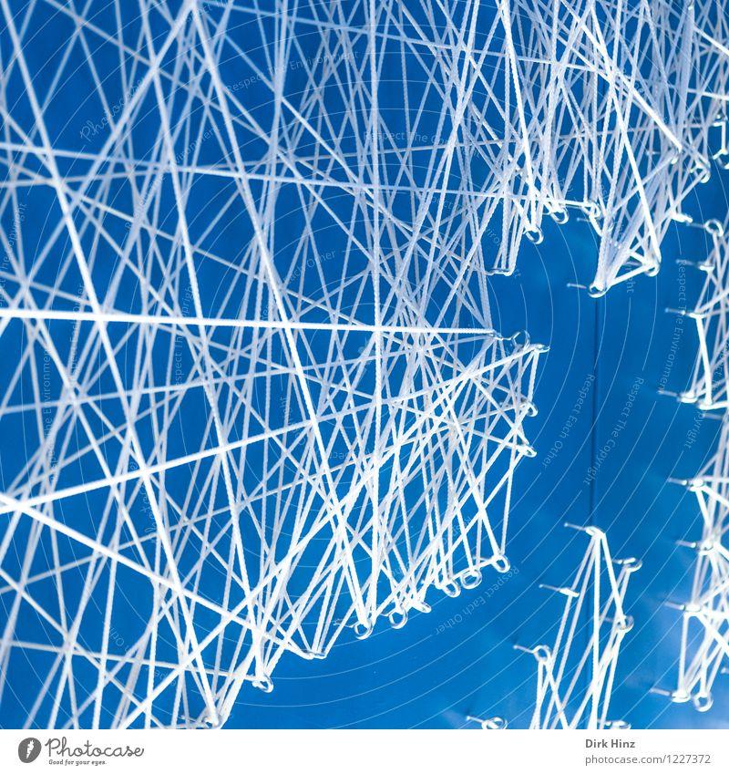 network Sign Crucifix Line String Knot Net Network Infinity Blue White Relationship Business Design Communicate Complex Problem solving Arrangement Perspective