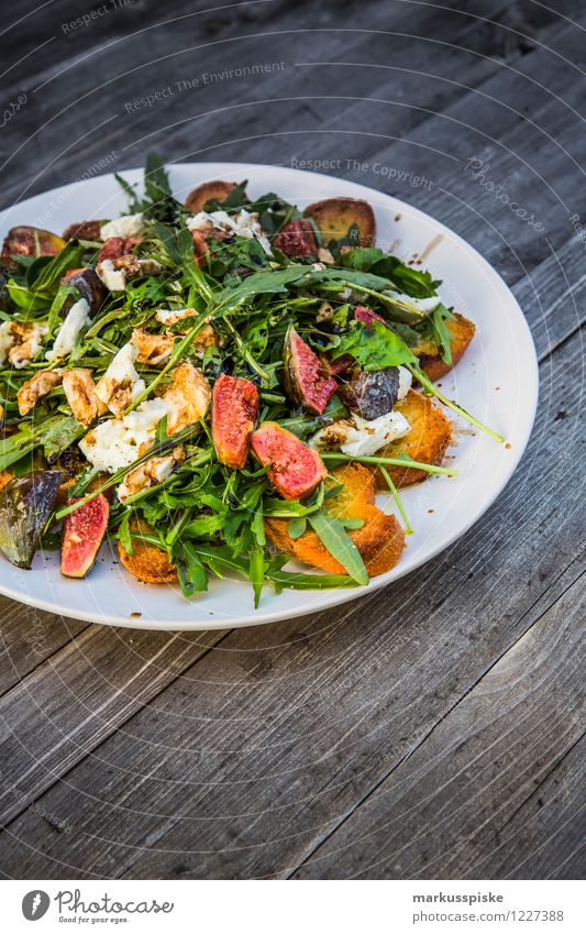 rocket salad with figs Food Lettuce Salad Bread Nutrition Picnic Organic produce Vegetarian diet Diet Slow food Plate Healthy Healthy Eating Fitness Life