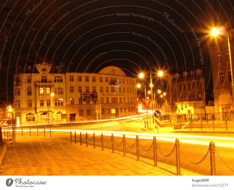 roundabout Traffic circle Light Long exposure Street
