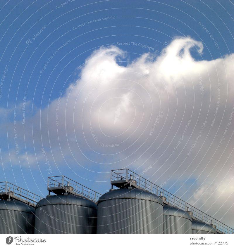 shaft Steam Clouds Circle Curls Industry Sky Blue frizzy air vortex