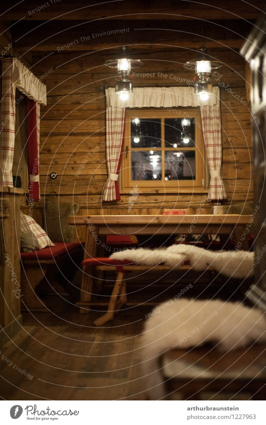 Alpine hut from the inside Lifestyle Style Vacation & Travel Tourism Summer vacation Winter Winter vacation Mountain Hiking House (Residential Structure)