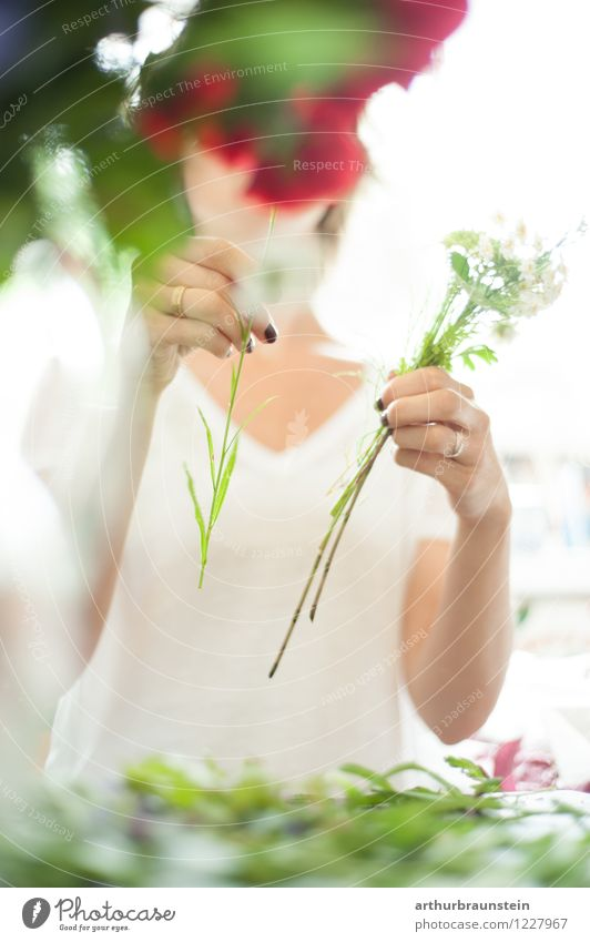 Human being Woman Youth (Young adults) Plant Summer Young woman Flower Adults Life Blossom Spring Grass Feminine Style Lifestyle Work and employment