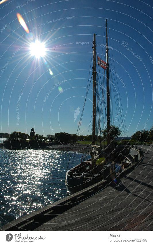 Nature Water Sun Autumn Landscape Europe Norway Sailing ship Scandinavia