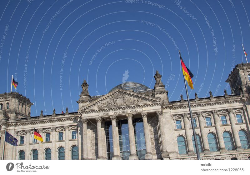 Reichstag crooked Tourism Sightseeing Politician Economy Career Advancement Future Berlin Capital city Downtown Entrance Tourist Attraction Stone Concrete Glass