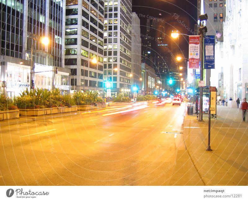 Street Lighting USA Traffic light Chicago North America Urban canyon