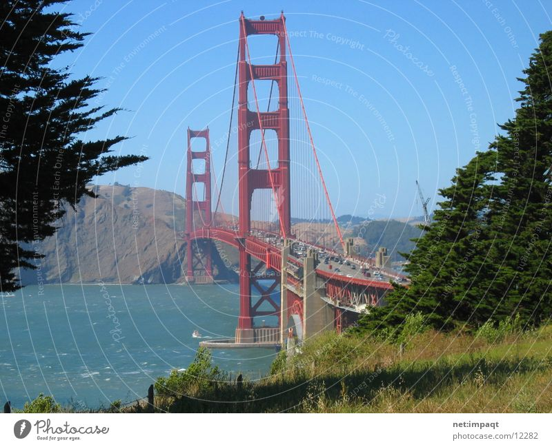 Golden Gate Bridge California Red Landmark USA San Francisco