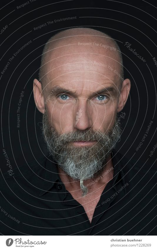 Actor - Julien Juergen Blaschke Man Adults 1 Human being 45 - 60 years Fashion Bald or shaved head Beard Stripe Looking Aggression Authentic Threat Cool (slang)