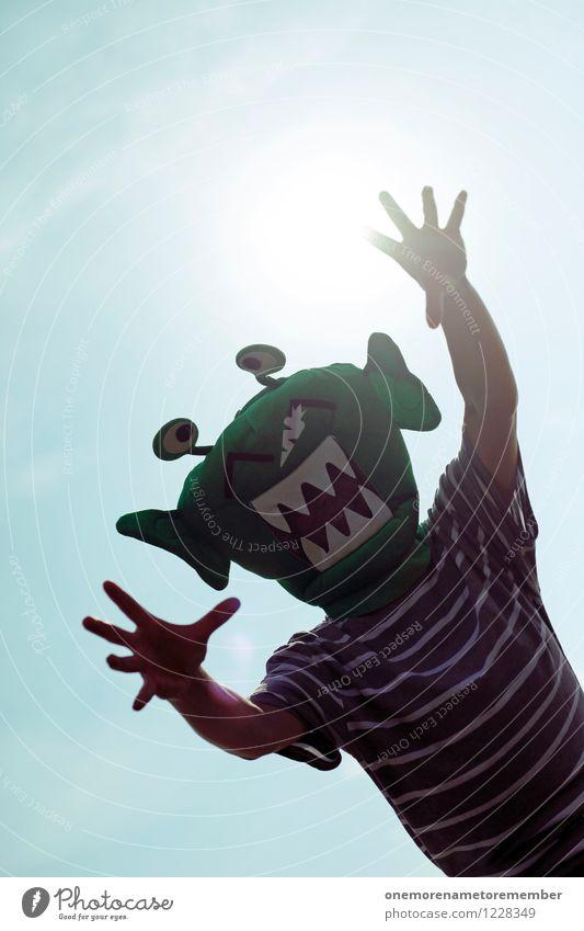 City Green Sun Hand Joy Art Moody Esthetic Communicate Future Adventure Teeth Mask Stress Argument Scream