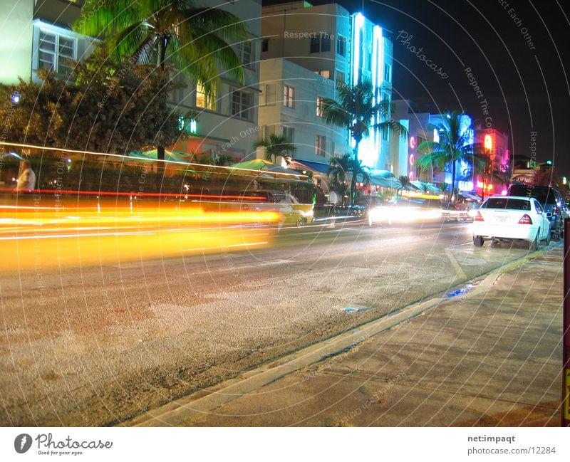 Street Car USA Neon light Exposure Florida Miami North America