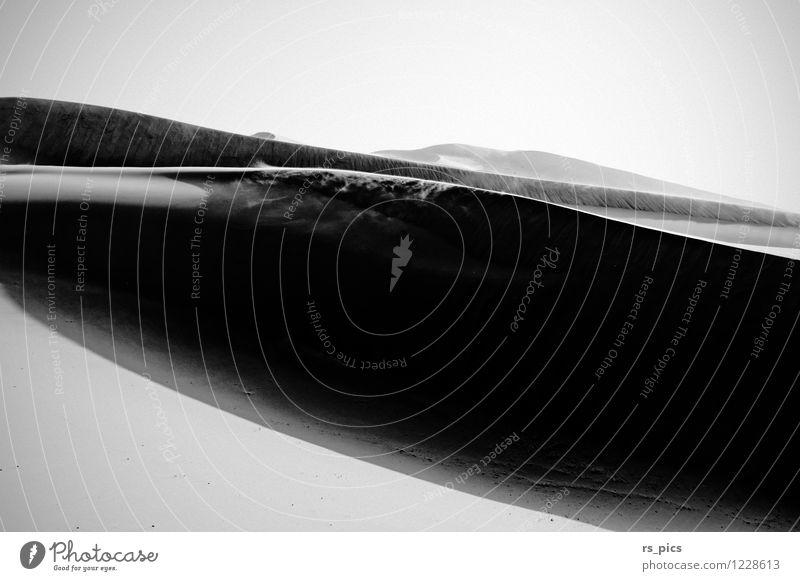 panta rhei Landscape Elements Sand Air Sun Wind Gale Desert Sahara Longing Loneliness Esthetic Time Destruction Black & white photo Exterior shot Deserted