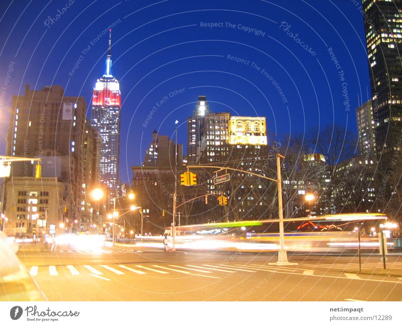 City Lamp Life Building High-rise USA Americas Skyline New York City Manhattan Exposure House (Residential Structure) North America Empire State building