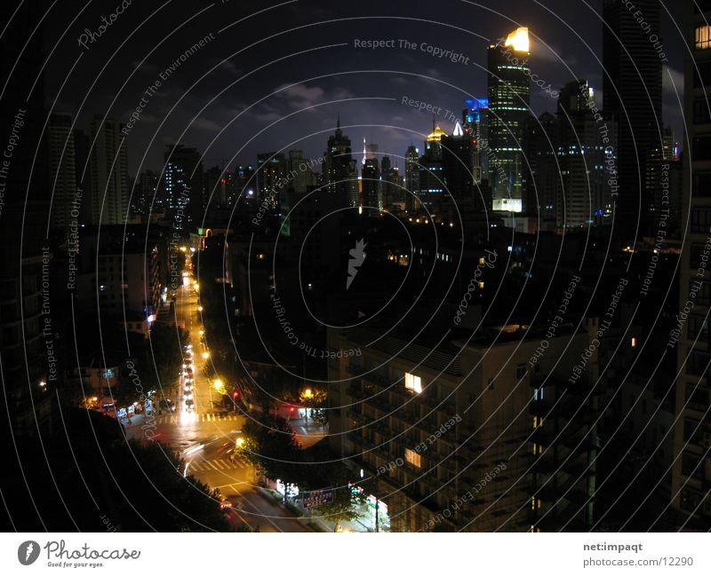 City Clouds Street Lighting Success High-rise Asia China Street lighting Shanghai