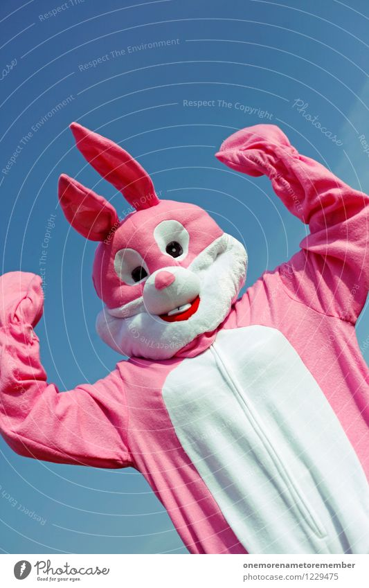 power bunny Art Work of art Esthetic Hare & Rabbit & Bunny Hare ears Hare hunting Rabbit's foot Pink Carnival costume Joy Comical Funster The fun-loving society