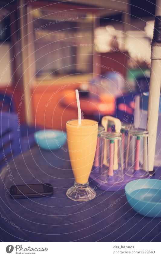 yellow Food Beverage Cold drink Juice Mango Diet Drinking Exotic Fresh Healthy Colour photo Multicoloured Close-up Deserted Copy Space top Copy Space bottom