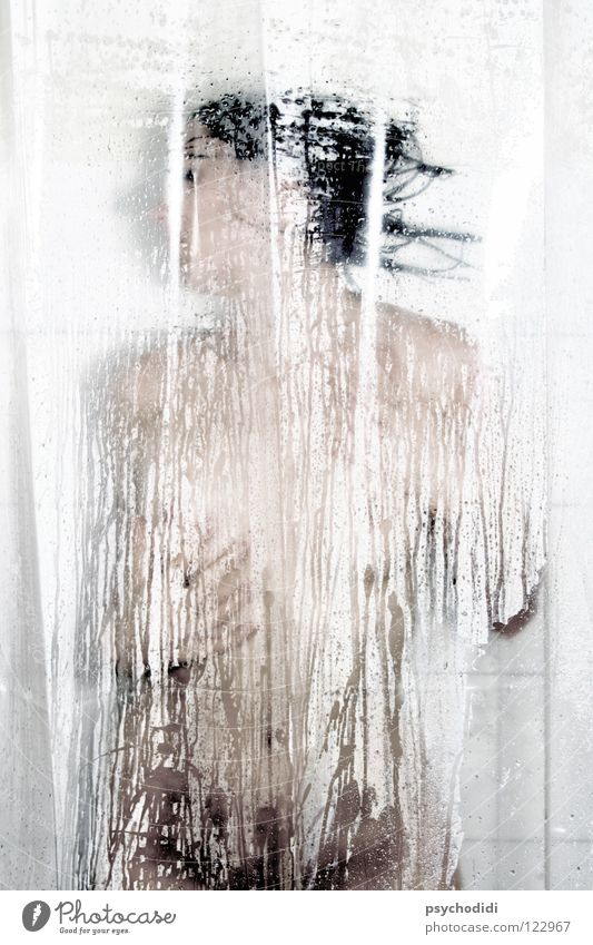 Acts 1 Bathroom Nude photography Shower (Installation) partial act Take a shower Shower curtain Female nude