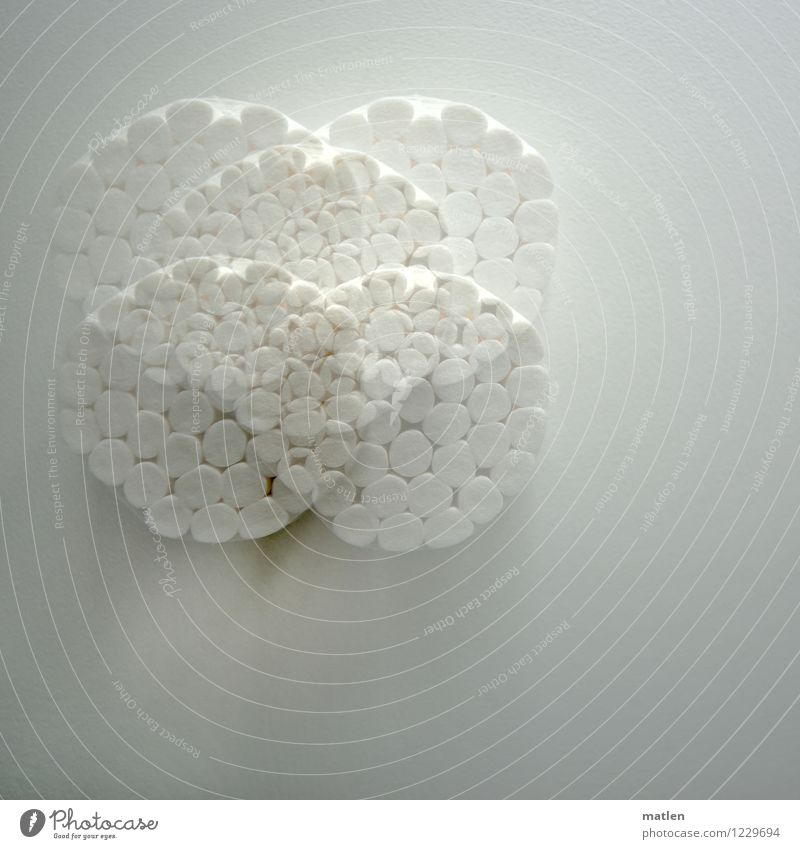 cotton Absorbent cotton Healthy Gray White cotton roll Packing film Double exposure Dentist Round Roll Clean Things Abstract Colour photo Interior shot Pattern