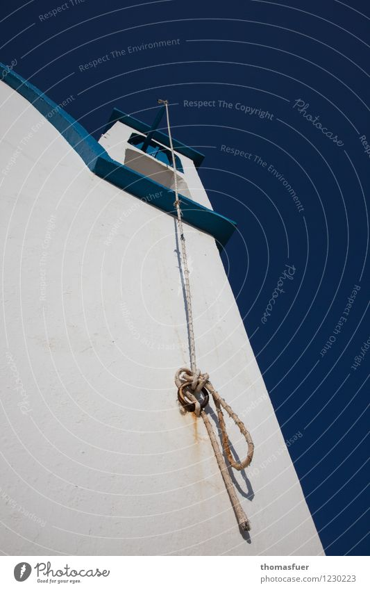 Greek ripcord Sightseeing Village Fishing village Church Wall (barrier) Wall (building) Bell Bell tower Old Simple Bright Historic Blue White Passion Hope