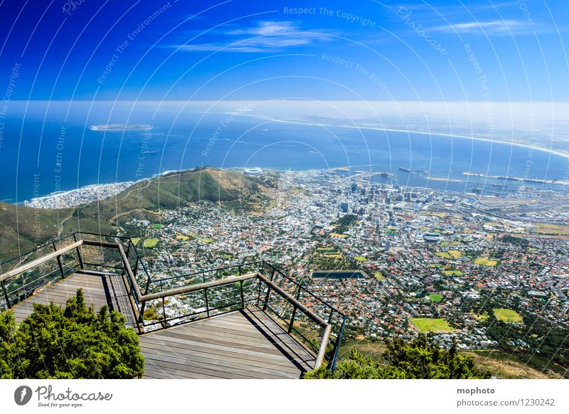 I love Capetown #1 Vacation & Travel Tourism Far-off places Sightseeing City trip Ocean Mountain Nature Landscape Sky Horizon Beautiful weather Table mountain