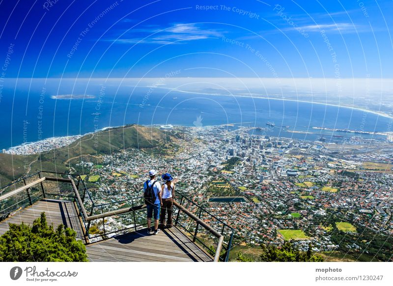 I love Capetown #2 Vacation & Travel Tourism Far-off places Sightseeing City trip Ocean Mountain Human being Woman Adults Man Couple Partner 18 - 30 years