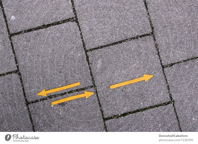 Yellow Street Lanes & trails Movement Stone Line Transport Beginning Dance Future Signage Past Arrow Graphic Direction