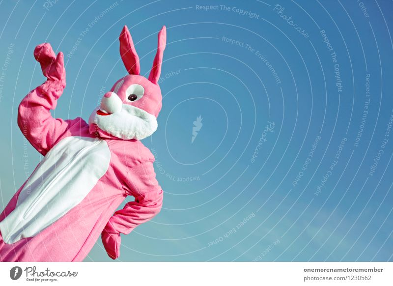 Joy Art Pink Esthetic Crazy Easter Hare & Rabbit & Bunny Work of art Costume Carnival costume Dress up Comical Funster Disguised Hare ears