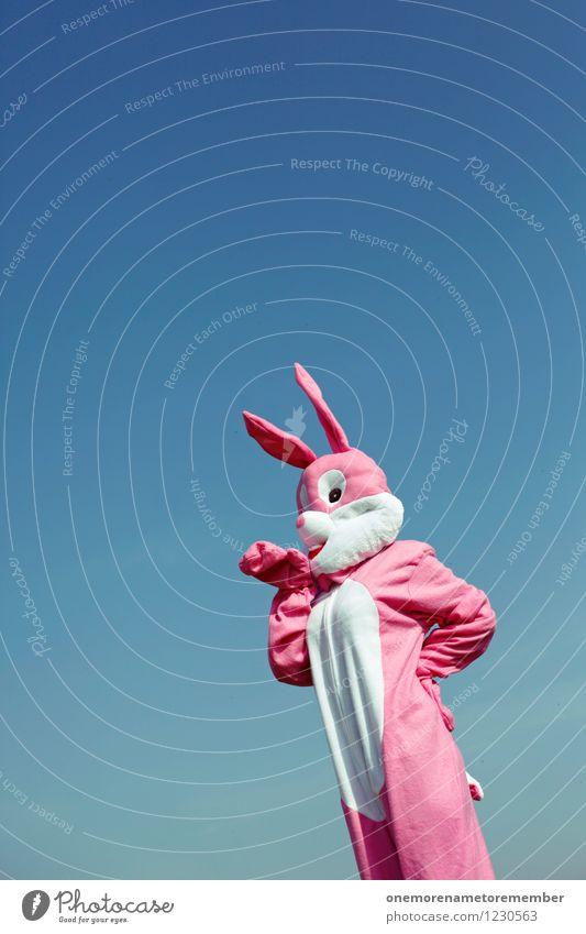 Joy Art Pink Stand Esthetic Wait Pelt Carnival Hare & Rabbit & Bunny Work of art Costume Carnival costume Comical Funster Roasted hare Hare ears