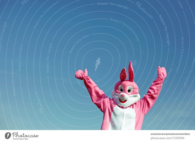 JUMP JUMP Art Work of art Esthetic Pink Hare & Rabbit & Bunny Hare ears Hare hunting Roasted hare Buck teeth Rabbit's foot Party Party mood Party service Jump