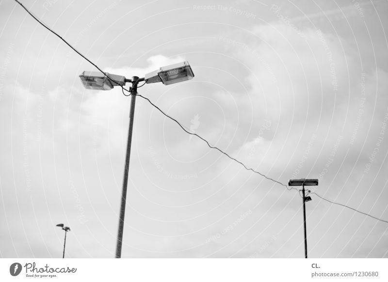 Sky Clouds Perspective Cable Target Lantern Transmission lines Lamp post