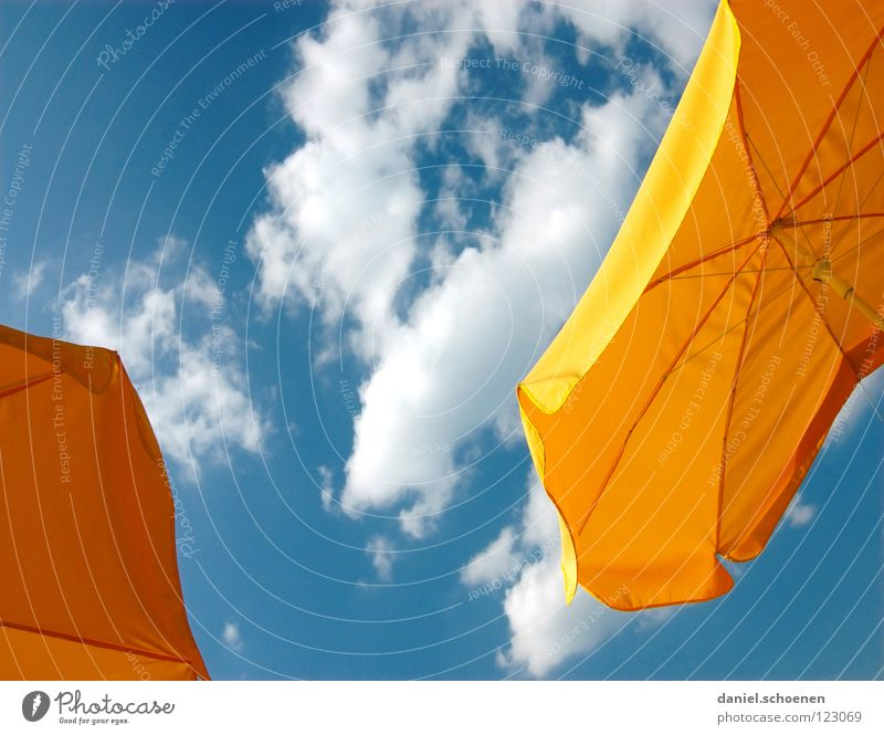Beautiful Sky White Blue Summer Clouds Yellow Colour Spring Warmth Orange Background picture Weather Perspective Break