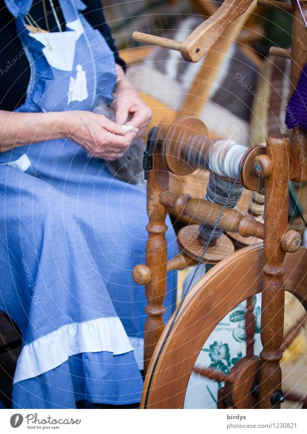 environmentally friendly spinning mill Handcrafts Work and employment Profession Craftsperson Workplace Craft (trade) Female senior Woman Grandmother