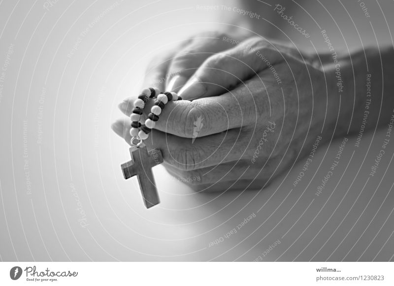 Hand Calm Religion and faith Think Fingers Hope Belief Holy God Prayer Ritual Humble Rosary Phylactery Lord's Prayer Ave Maria