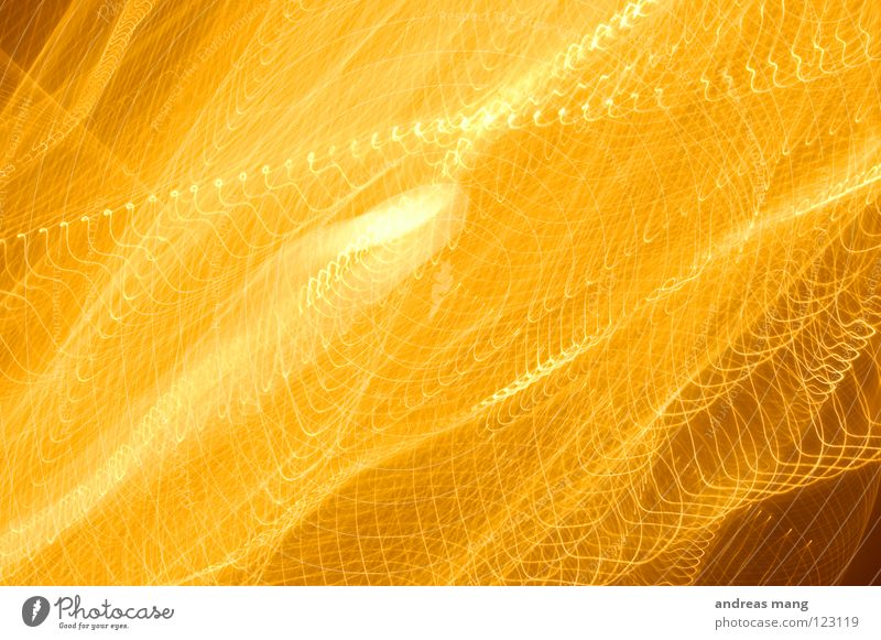 Yellow Line Bright Orange Art Design Stripe Radiation Chaos Muddled Explosion Flashy