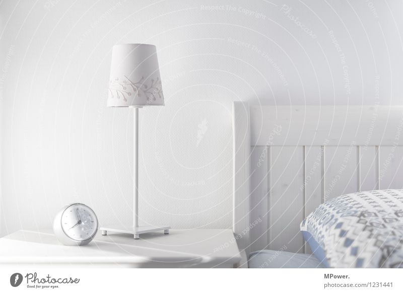 Good morning Sleep Clock Technology Cool (slang) Bright Alarm clock Lamp White Bedside table Furniture Clock hand Morning grouchiness Bedroom Table lamp