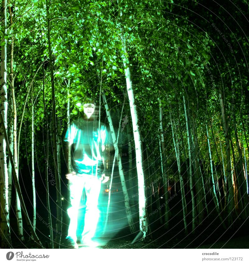 urban ghost Tree Mysterious Pants Man Transparent Mystic Lamp Lighting T-shirt Long exposure Ghosts & Spectres  Human being youthful Blur thamse shore bladdl