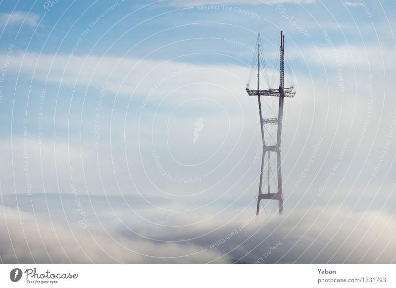 twin peaks Vacation & Travel Tourism Sightseeing City trip San Francisco USA California Manmade structures Broadcasting tower Tall Fog bank Colour photo