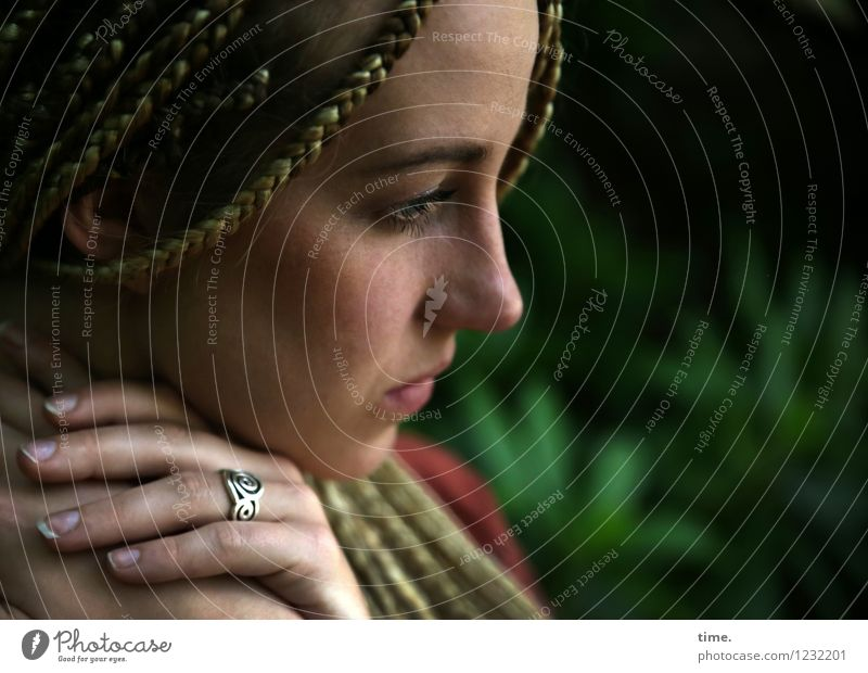 Human being Woman Beautiful Relaxation Calm Adults Emotions Feminine Think Time Moody Park Dream Contentment Blonde Observe