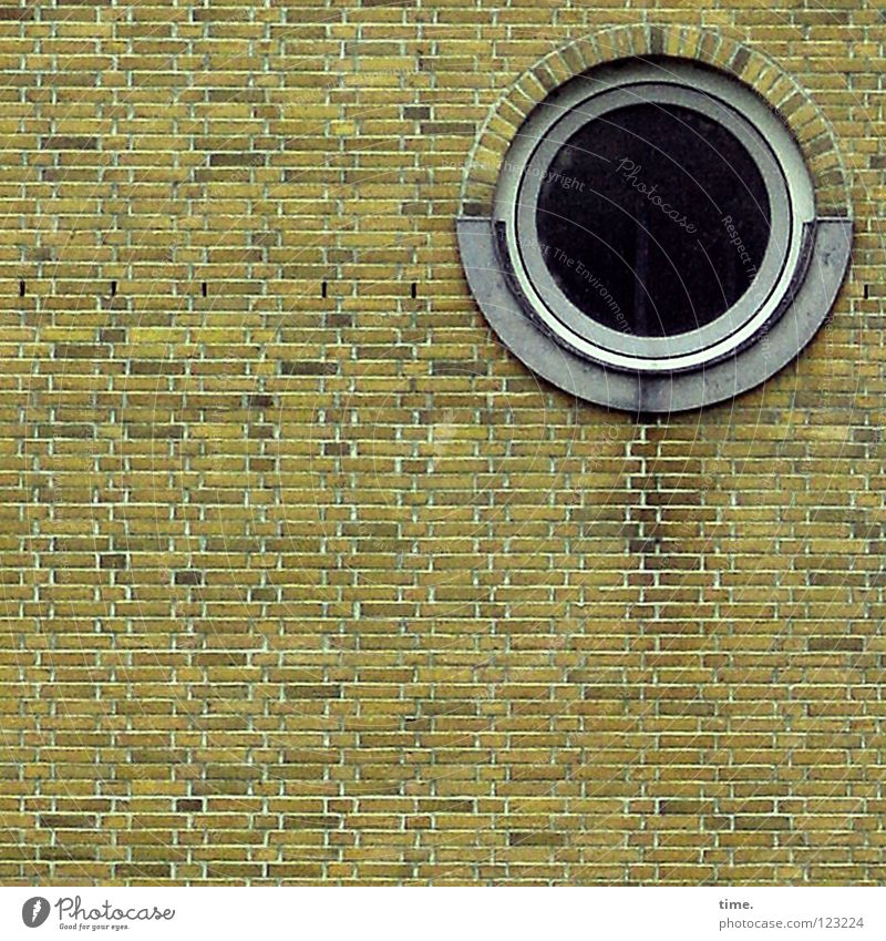 The round in the square (IV) Wall (barrier) Wall (building) Brick Window Porthole Harbor city Flat (apartment) Staircase (Hallway) Mortar Manmade structures