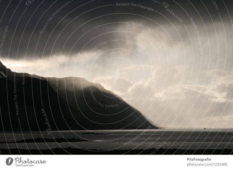 Sky Nature Sun Ocean Landscape Clouds Cold Mountain Coast Time Rock Rain Weather Norway Apocalyptic sentiment Lofotes