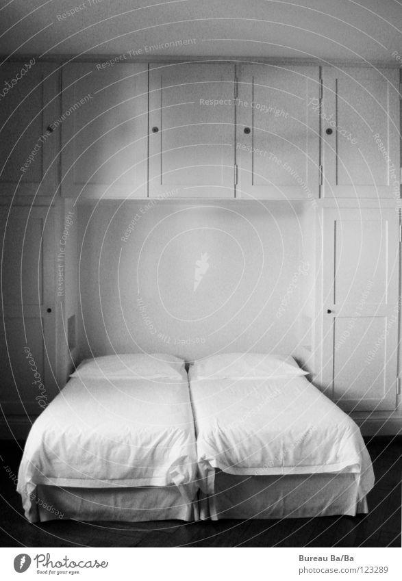 good night Sleep Bedroom Hotel room Cupboard Cushion Black & white photo :) Pillow