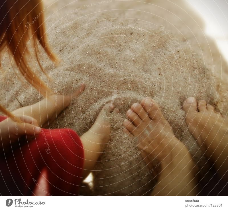 a breath of .. summer Summer Physics Beach Toes Boredom To enjoy Wellness Calm Sunbathing Child Earth Sand Toddler Joy Warmth Feet Hair and hairstyles