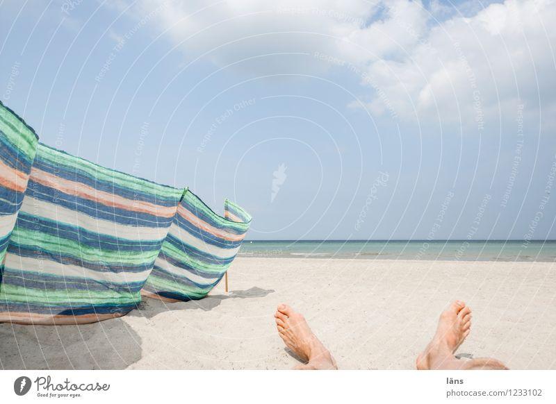 Lang Baltic Sea Ocean Maritime Beach Sand Lie Feet Sky Relaxation Break Restful Vacation & Travel wind deflector
